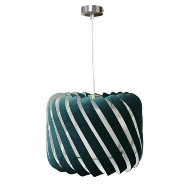 Stof Clyde loftlampe i grøn