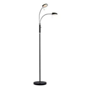 Led gulvlampe med to lamper