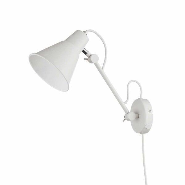 Væglampe i hvid med LED-lys