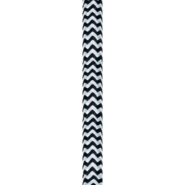 Stofledning i sort og hvid zigzag