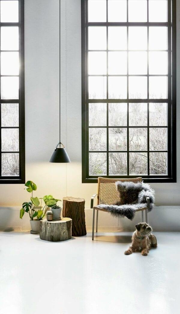 Strap 36 pendel i sort ned brun rem pynter i stuen