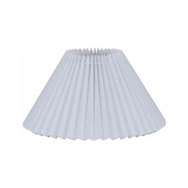 lampeskaerm plisse-hvid-hvid-pvc-med-paereklemme