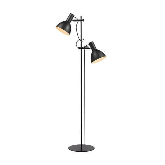 baltimore gulvlampe med 2 lamper i sort