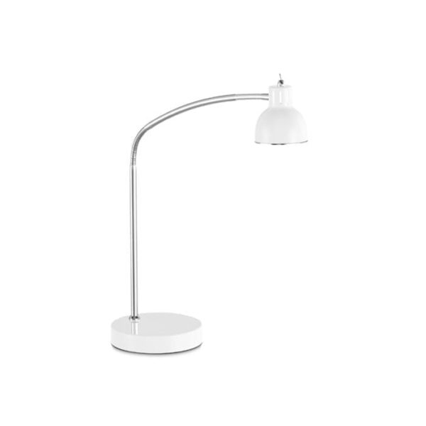 duett led bordlampe i hvid