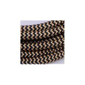 stofledning-snake-sort-guld