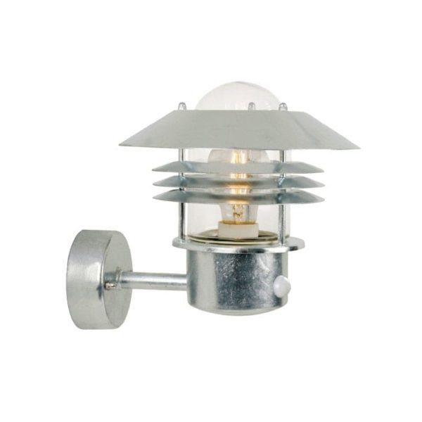 nordlux-vejers-sensor-vaeglampe-galvaniseret