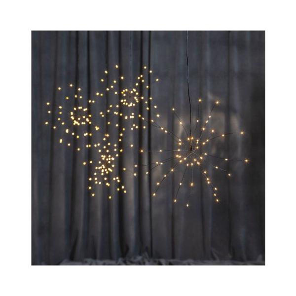 julestjerne-firework-120-led-sort