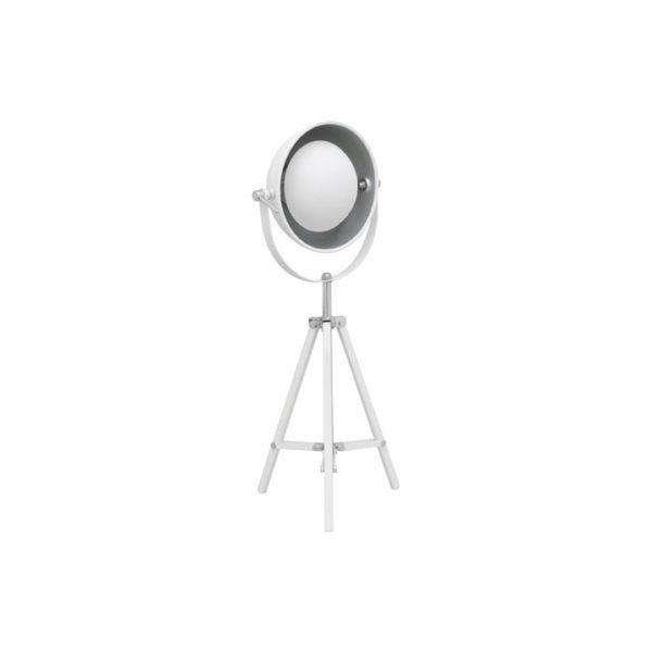 bordlampe 3-ben i hvid metal
