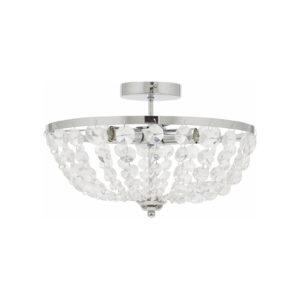 loftlampe med krystaller-rondo