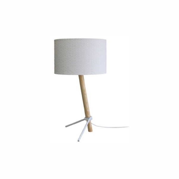 Loop-bordlampe-trae-hvid