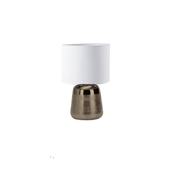 bordlampe-soelv-med-hvid-lampeskaerm