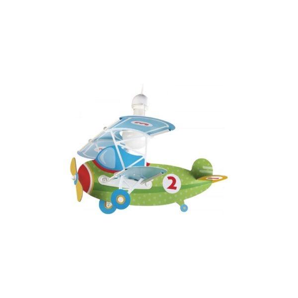 loftlampe-flyvemaskine-groen
